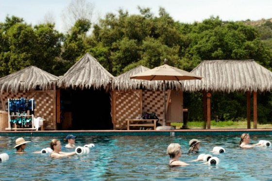 hydro-fit, hydro fit, water classes, water aerobics, core workout ab workout, health retreat, health spa