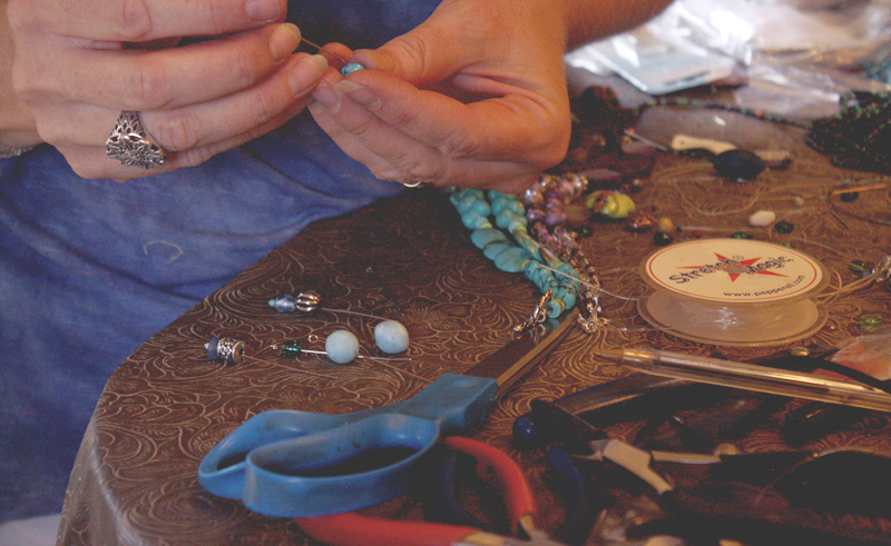 jewelry class, handmade jewelry, beads, rancho la puerta, health spa, health retreat