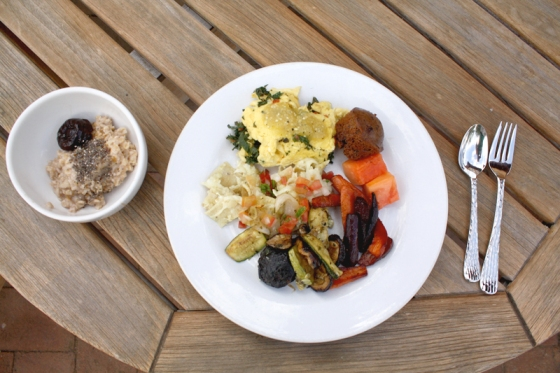 organic breakfast, organic, organic food, organic farm, rancho la puerta, health spa, health retreat