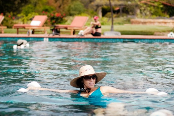 pool pilates, pool fitness, water class, health retreat, health spa