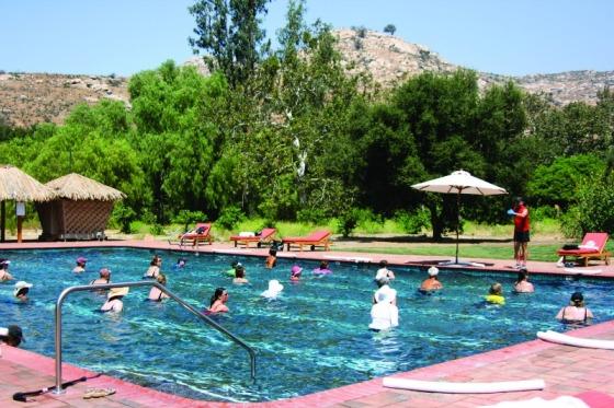stretching, water class, health spa, health retreat