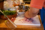 The freshest ingredients being prepared...